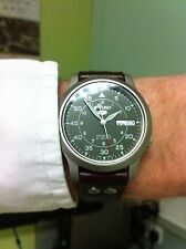 Seiko 5 Automatic.SNK805K2 With riveted pilot leather strap fitted