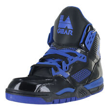 LA Gear Retro Kaj Hi-Top LAKA89-2 Black Royal Blue Mens US size 9