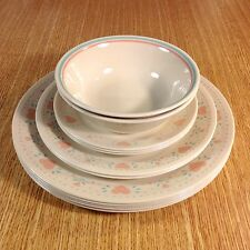 CORELLE Corning FOREVER YOURS PINK HEARTS Dinner LUNCHEON Salad BOWLS (12 Pcs)