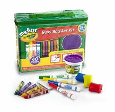 NEW My First Crayola Ultimate Busy Bag Art Kit Crayons Markers Dough 40 Pc