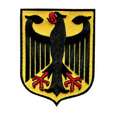 GERMAN EAGLE EMBROIDERED PATCH BUNDESADLER GERMAN HERITAGE IRON-ON SIZE M 9x7 CM