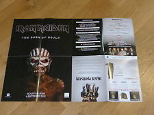 IRON MADEN - THE BOOK OF SOULS !!!  MEGA RARE FRENCH PRESS/KIT POSTER