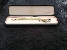 PENNINO Juicy Couture Nuovo Originale Braccialetto in oro con pietre giallo & CHARMS