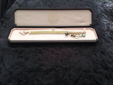 NIB Juicy Couture New Genuine Gold Bracelet With Yellow Stones & Charms