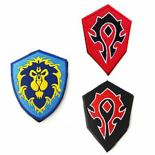 3 PC World OF Warcraft ALLIANCE 3 Game 3D EMBROIDERED VELCRO PATCH Morale Badge