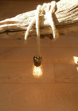 8 mm JUTE ROPE COVERED 2 CORE LIGHT FLEX WIRE CORD HANGING LAMP PENDANT CEILING