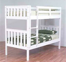 JESTER KING SINGLE BUNK BED HARDWOOD TIMBER IN WHITE