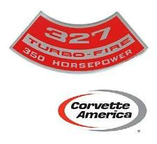 Chevrolet- Corvette 327 Turbo-Fire 350 HP Air Cleaner Decal