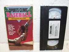 Sports Clinic - Baseball VHS Video Out Of Print Dick Williams