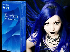 BERINA PERMANENT A41 COLOR NEW HAIR DYE CREAM BLUE COLOR FREE SHIPPING