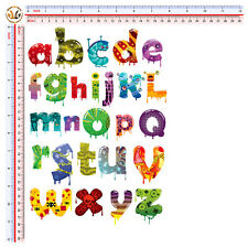 adesivi lettere colorate auto moto casco sticker leters color print pvc 27 pz.