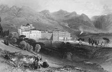 ITALY San Martino Convent Sicily - 155 Years Old Antique Print Engraving
