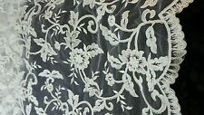High Quality Beautiful White French Bridal Lace Fabric 1 YRD. Cheapest on ebay!