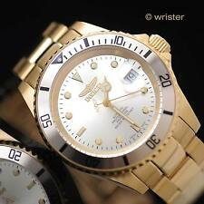 Swiss Made Automatic Invicta Pro Diver 18k Gold IP Sellita SW200 40mm Mens Watch