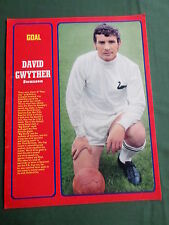 DAVID GWYTHER - SWANSEA PLAYER-1 PAGE MAGAZINE PICTURE- CLIPPING/CUTTING