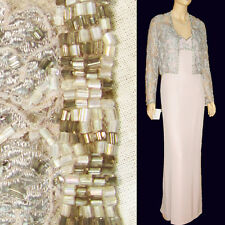 New $600 B'Zar BEADED LACE Gown & Bolero 14 Prom Formal Gown Wedding Lavender