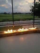 """TB98CK+: 98"""" Trough Burner SS316 Complete Deluxe DIY Fire Table/ Fire Wall Kit"""