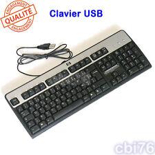 Clavier HP USB AZERTY français noir et argent pour PC de bureau
