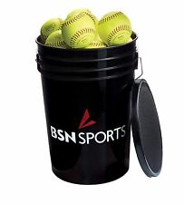 "BSN SPORTS Bucket w/2 dz 11"" PRACTICE Softballs (Brand of balls will vary)"
