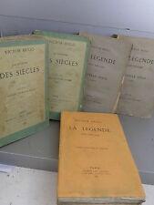 Hugo Victor La légende des siècles complete en  Originale dont Grand Papier