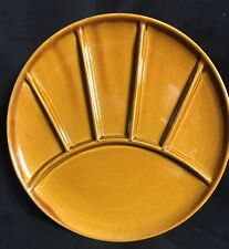 Ceramic Fondue Sushi Divided Six Sections Serving Plates Set Of 3