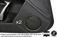 ORANGE STICH 2X DOOR SPEAKER TRIM LEATHER COVER FOR TOYOTA GT86 SUBARU BRZ 12-16