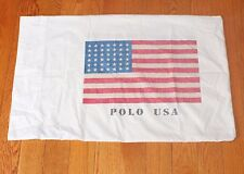 POLO USA FLAG Standard Pillowcase American Ralph Lauren Americana vtg 92 Pillow