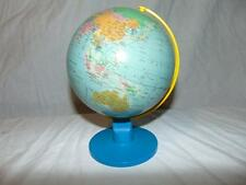 Miniature Globe metal w/ blue plastic axel GB 1/97 Scale 1:84,000,000 Demark