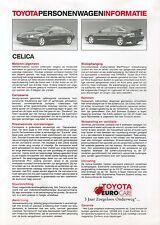 Toyota Celica Prospekt NL Technische Daten 2 94 brochure 1994 Auto PKWs Japan