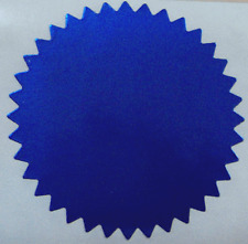 Shiny Blue Foil Notary & Certificate Seals, 2 Inch, Serrated Edge, 100 Seals