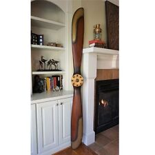 "WWI 1917 Replica 90"" Wood Wooden Airplane Aircraft Antique Propeller Brass Edges"