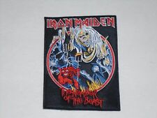 IRON MAIDEN THE NUMBER OF THE BEAST EMBROIDERED PATCH