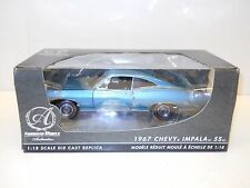 Ertl American Muscle Authentics 1:18 Diecast 1967 Chevy Impala SS - Blue MIB