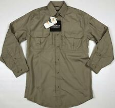 Men's Woolrich Elite Series Tactical Khaki Shirt Size Small Button Front LS NWT
