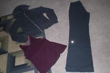 Lot of Lululemon Luon Still Pants, Rare Distressed Love Hoodie and Tank Top sz 6