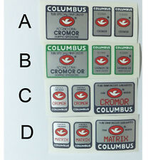 Columbus Cromor frame & fork decals Choices A, B,C or D  one set only
