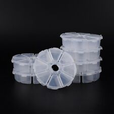 20 Sets Wholesale Price Plastic Bead Storage Containers White US 105x105x28mm