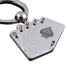 Venta caliente metal llavero Regalos del coche de motor Llavero Poker