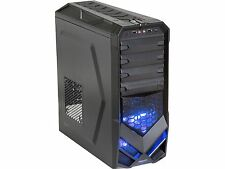 Rosewill Galaxy-01 ATX Mid Tower Black Gaming Computer Case w Front Blue LED Fan