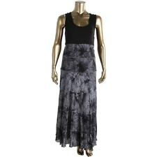 Karen Kane 3715 Womens Black Tie-Dye Empire Sleeveless Maxi Dress Plus 3X BHFO