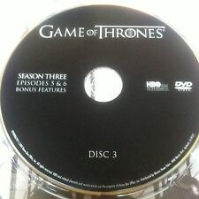 Game of Thrones Season 3 disc 3 Replacement Disc DVD ONLY