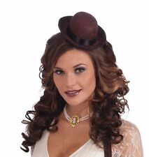 Mini Derby Hat Bowler Womens Adult Childs One Size Steampunk Steam Punk Brown