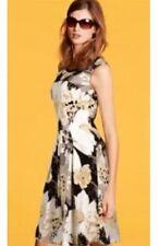 """Bnwt """"next"""" taille 6 motif floral gris/noir beige robe d'été (34 eu) neuf"""