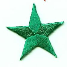 "Iron On Embroidered Applique Patch Star 1.75"" Green 150034 SET 5 PCS"