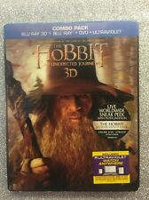 The Hobbit: An Unexpected Journey 3D (Blu-ray 3D/Blu-ray/DVD/Digital) NEW w/Slip