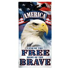 "LAND OF THE FREE HOME OF THE BRAVE 30""X60"" SPECTRA BEACH TOWEL NEW WINCRAFT"