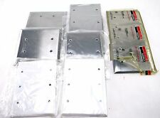 LOT OF 8 NEW COVER OUTLET BOX 2, 3 & 5 GANG WALLPLATES METAL WITH SCREWS