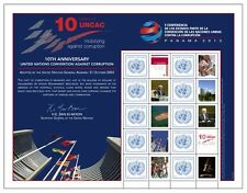 United Nations UN Panama 2013 10th Anniv of UNCAC Personalized Sheet Stamps