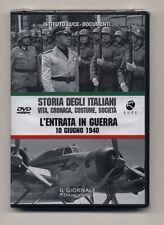 Dvd STORIA DEGLI ITALIANI 5 L'entrata in guerra 10 giugno 1940 ISTITUTO LUCE
