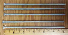 Lot of 5 - SLOTTED ROUND HEAD 10-24 X 6 inch MACHINE SCREW - STEEL ZINC PLATED